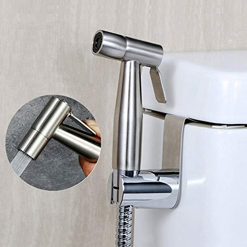 Bidet Brause Set YUNRUX Schlauch + Bidet-Handbrause +Halterfür Toilette wc Edelstahl Sprüher Komplett Bidet Set Rostfrei WC Brause für Intimdusche Dusche Hand WC Duschkopf