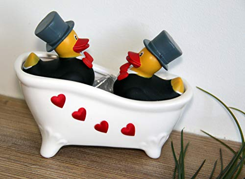 generisch Geschenk Hochzeit - Badende Enten (Mann & Mann) (Bräutigam Badewanne)