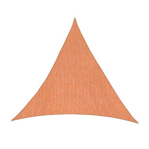 Jarolift Voile d'ombrage | Toile d'ombrage | Voile triangulaire| Tissu respirant | 500 x 500 x 500 cm, orange