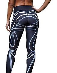 Damen 3/4 Yoga Leggings Hose , Yogogo Mittlere Taille Pants | Trainingshose Hosen | Bleistifthosen Leggings | Sport Fitness Workout Leggins | Elastische Dünne Hosen | Sporthose