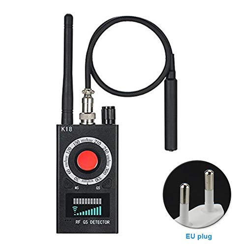 Anti-Spy-Detektor K18 Kamera GSM Audio Bug Finder GPS Signal Linse RF Tracker, K18 GSM Detektor Kamera Finder Audio Full Range Anti-Spy RF Signal Radio Wave, (1 Stück), Wie abgebildet, eu Gsm-radio