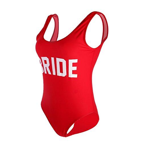MagiDeal Traje de Una Pieza Traje de Baño de Mujeres Impreso con Bride Bikini de Playa para Natación...