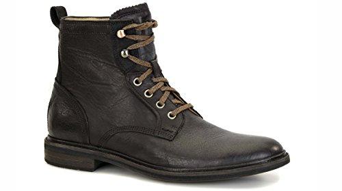 UGG - Boots - Homme - Boots en cuir à lacets noires Selwood pour homme Black