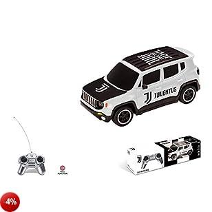 Mondo- Jeep Renegade F.C. Juventus Veicolo Radiocomandato, Colore Bianco, Scala 1:24, 63555