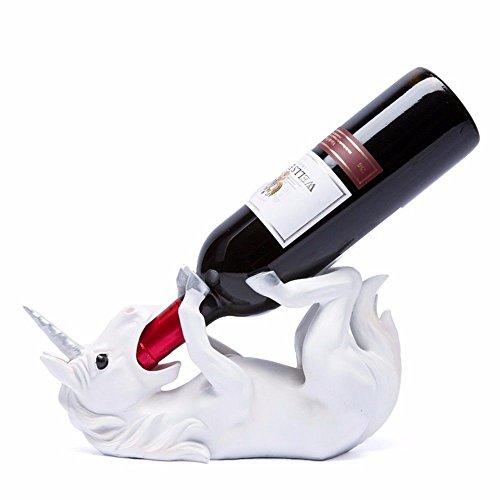 GAOQIANGFENG Dieser Flaschenhalter ist das perfekte Zubehör für die Aufbewahrung von Flaschen - Stapelbarer Flaschenhalter ideal für Weinflaschen Einhorn Statue Küche, Dekoration