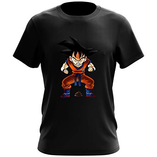 Okiwoki T-Shirt Noir Dragon Ball Z - DBZ parodique Sangoku : Super Caca - Vol.1 (Parodie Dragon Ball Z - DBZ)