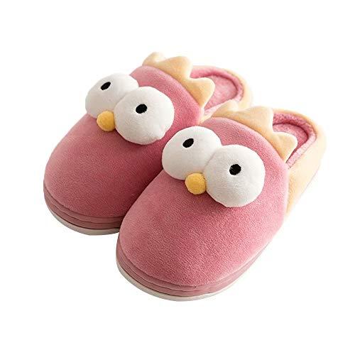 Zapatillas Lindas De Animales Espuma Acolchada De Terciopelo Zapatos De Interior De La Diapositiva De La Casa Niños Niñas, Talla 27/28 EU (talla fabricante 28/29)