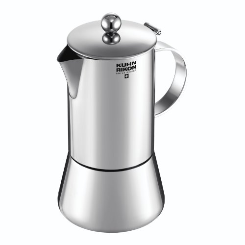 Kuhn Rikon Juliette - Cafetera espresso para inducción, 10 tazas