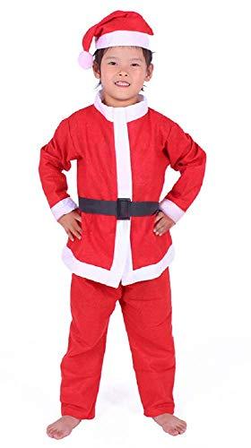 Inception Pro Infinite (Größe 110 - 2-3 Jahre) Kostüm Weihnachtsmann Kind Kobold Verkleidung Karneval Halloween Cosplay Rot und Weiß Kleid + Cape Hut Party Urlaub