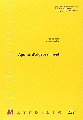 Apunts d'àlgebra lineal (Materials) por Enric Nart