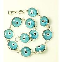 Pulsera regalo OJO TURCO azul Plata de Ley 925 - Pulsera amuleto mal de ojo