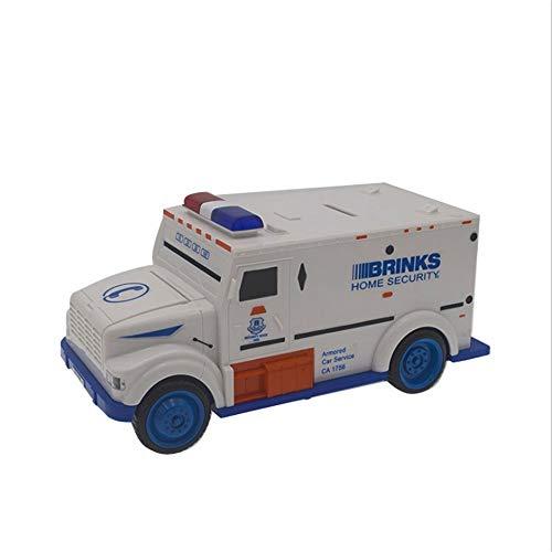 Wealth Seguro de Dinero Blindado Banco Camión Alcancía Seguridad Vehículo Contraseña de automóvil Proveedor de administración de Efectivo Bill Caja de Monedas para niños Niños A través del Tiempo