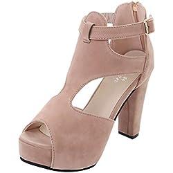 GladiatorPlateformes Pumps Peep Toe Ankle Sangle Talon Haut Sandales Casual Célibataire Chaussures