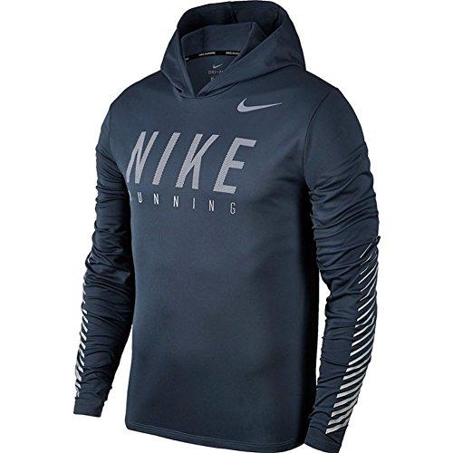 Nike Herren M NK Flash Miler Hoodie SSNL GX Kapuzenpullover, Donner Blau, 2XL