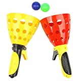 Outdoor Launch & Catch Game Fun Air Scoop Ball Toy Set one Pair with Two Ball