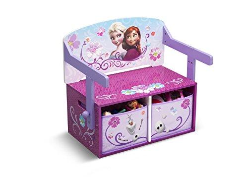 Frozen Sitzbank & Schreibtisch mit Stauraum (Rosa/Lila)