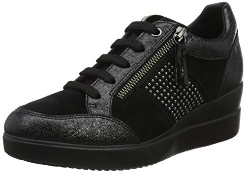 Geox Damen D Stardust D Sneaker, Schwarz (Black C9999), 41 EU