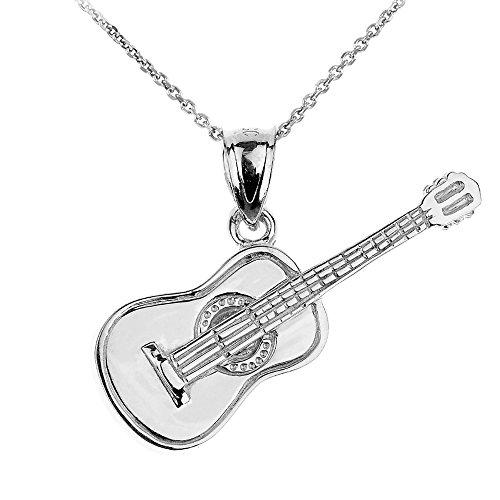 collier-pendentif-925-argent-fin-guitare-acoustique-musique-livre-avec-une-45cm-chaine
