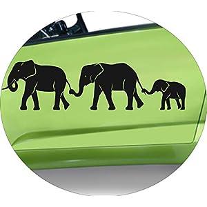 Autoaufkleber Elefantenfamilie