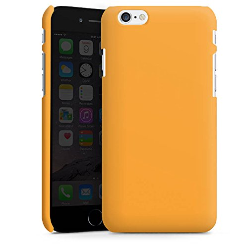 Apple iPhone X Silikon Hülle Case Schutzhülle Melonen Farbe Orange Premium Case matt