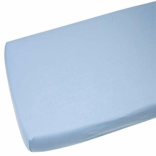 2x Kinderbett Jersey Wiege Spannbetttuch 100% Baumwolle 40x 90cm Blau
