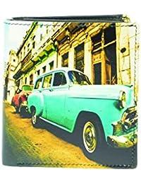 GOLUNSKI Kubanische Auto Herren Brieftasche Portemonnaie Türkis