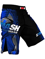 SMMASH MMA Pantalones Cortos FIGHT MACHINE ELECTRIC S M L XL XXL MMA BJJ UFC Boxen K1 (S)