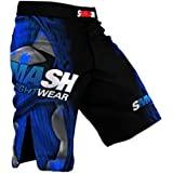 SMMASH MMA Pantalones Cortos FIGHT MACHINE ELECTRIC S M L XL XXL MMA BJJ UFC Boxen K1 (S)