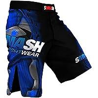 SMMASH MMA Pantalones Cortos FIGHT MACHINE ELECTRIC S M L XL XXL MMA BJJ UFC Boxen K1 (L)