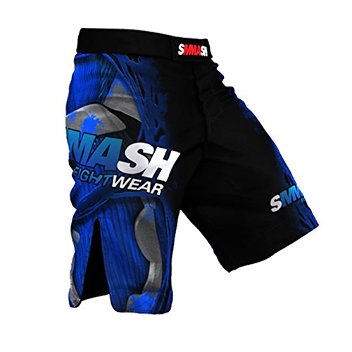 SMMASH MMA Shorts FIGHT MACHINE ELECTRIC S M L XL XXL MMA BJJ UFC Boxen Kampfsport K1 (L) (Electric Herren Shorts)