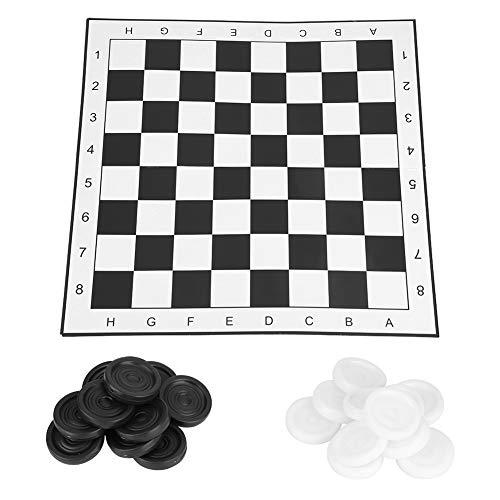 ernational Checkers, Kunststoff-Faltbrett Schachspiel für Party Family Aktivitäten ()