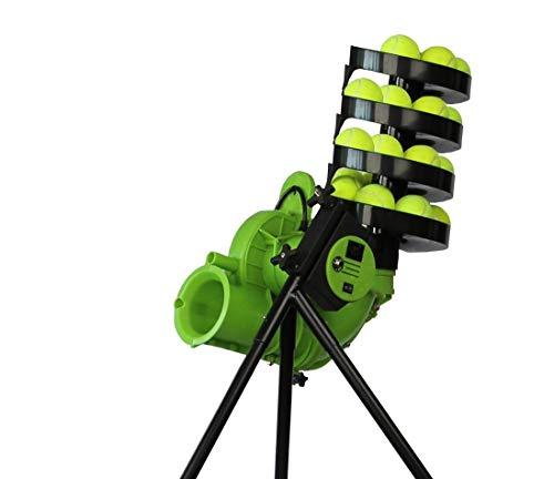 Dimension Sport Tennis Ballmaschine - BaseLiner Slam - Perfekte Ballwurfmaschine für das Tennisschlagtraining (BaseLiner Slam+12 Ballaufsatz) -