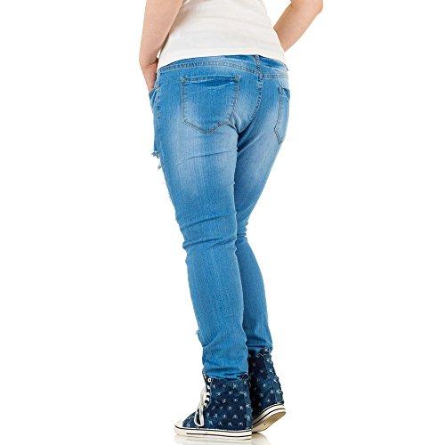 ... Damen Jeans, DESTROYED ÜBERGRÖßEN SKINNY JEANS, KL-J-A266 Blau