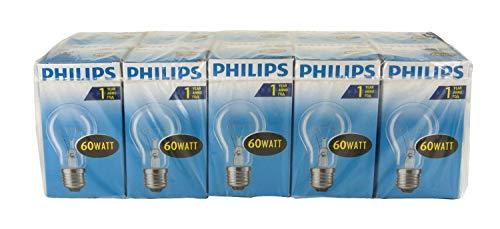 Philips Glühlampe Birnenform, 60 Watt, E27, klar, 10er