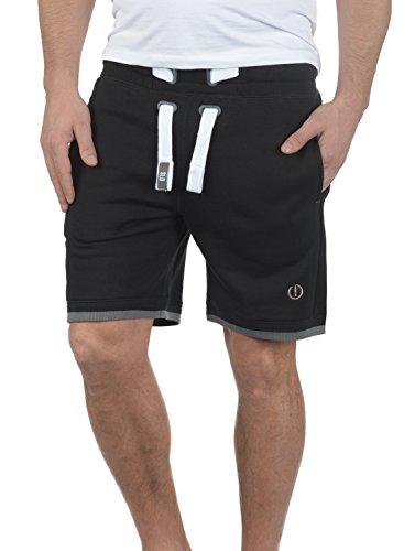 !Solid BenjaminShorts Herren Sweatshorts Kurze Hose Jogginghose Mit Fleece-Innenseite Und Kordel Regular Fit, Größe:XL, Farbe:Black (9000) (Fleece Sweat Shorts)