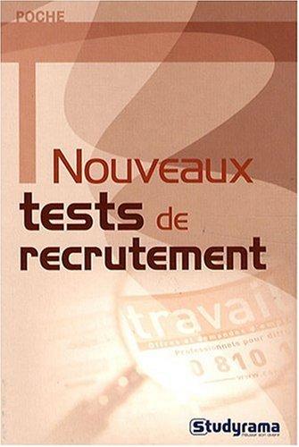 Nouveaux tests de recrutement par Sabine Duhamel