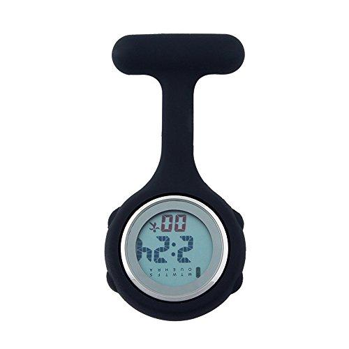 Fresh66 Unisex Digital Krankenschwester Taschenuhren FRH0069H (Schwarz)