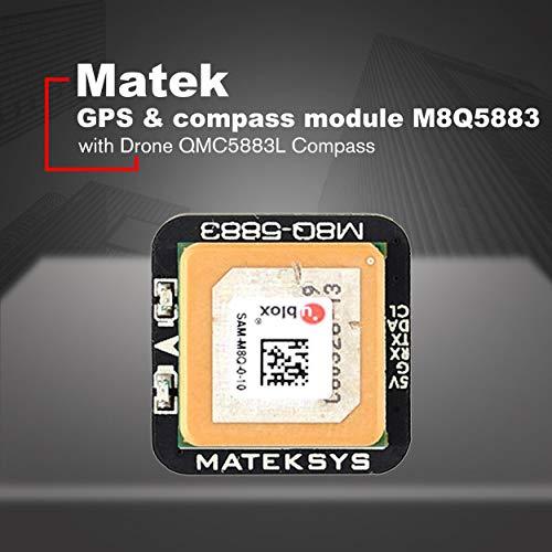 Losenlli Ajuste Matek Systems M8Q5883 Ublox SAMM8Q Mini GPS con módulo QMC5883L...