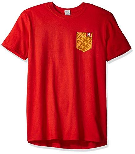 New World Graphics NCAA Maryland Terrapins Erwachsene NCAA Kunsttasche, kurzärmlig, Größe L, Rot