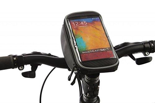 Tofern Fahrrad Radfahren Lenkertasche Lenker Beutel Handy Halterung Bildschirm Touch Tasche geeignet für iPhone Samsung LG Sony HTC mit Bildschirm 4~5.7 Zoll - M 4,8 Zoll