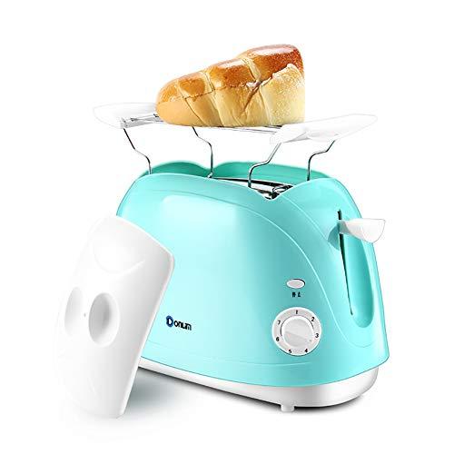 Wjsw Toaster Hause Multifunktionsautomatik,800W Netzteil 2 Kartensteckplätze,7 Bräunungssteuerungsmodi,Himmelblau Mini Toast Frühstück Maschine