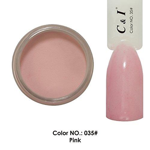 C & I Dipping Powder plongée Powder couleur N ° 035 Pink Système couleur rouge
