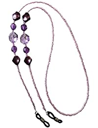 NEW Stunning Purple & Lilac Beaded Eye Glasses / Sunglasses Spectacle Chain Strap Holder