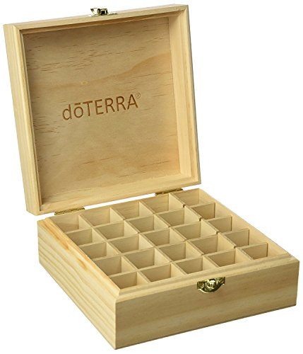 Swaroser Huile essentielle bouteilles Boîte de rangement pour les blocs de 25 100% d'origine Boîte en bois