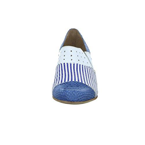 Charme Routard Italy 0074-17E._ Damen Slipper Halbschuh eleganter Boden Blau (Blau)