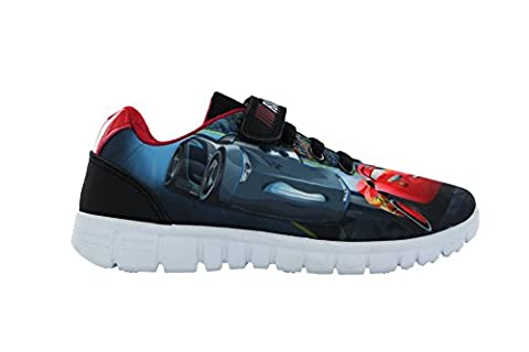 Cars East Linton Race Ready Lightning McQueen Navy Trainers Size 10
