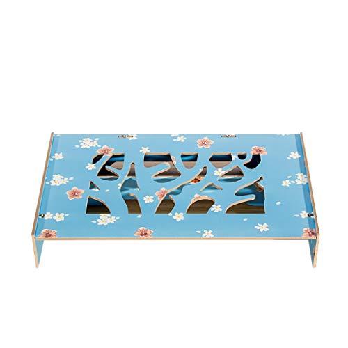 Notebook-Display Erhöht Schreibtisch Lagerregal Erhöht Basis Holz Multifunktions Verstellbare Unterstützung (47x26x8cm) ## (Color : Blue) -