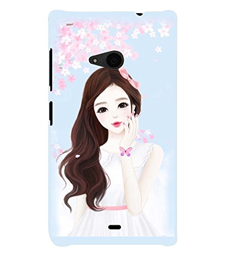 Printvisa Cute Girl Flower Shower Pic Back Case Cover for Nokia Lumia 535::Microsoft Lumia 535