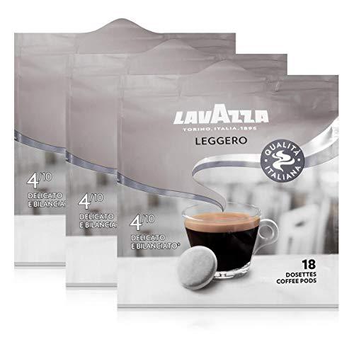Lavazza Kaffeepads Leggero 18 Pads - Für Kaffee-Padmaschinen 125g Röstkaffee (3er Pack)