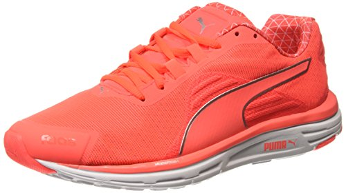 Puma Faas 500 V4 Power Warm, Zapatillas de Running para Hombre, Naranja-Orange (Fiery Coral-Silver Metallic), 42 EU
